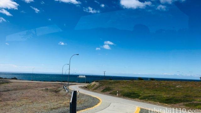 プンタアレナス空港 プエルトナタレス バスからの景色