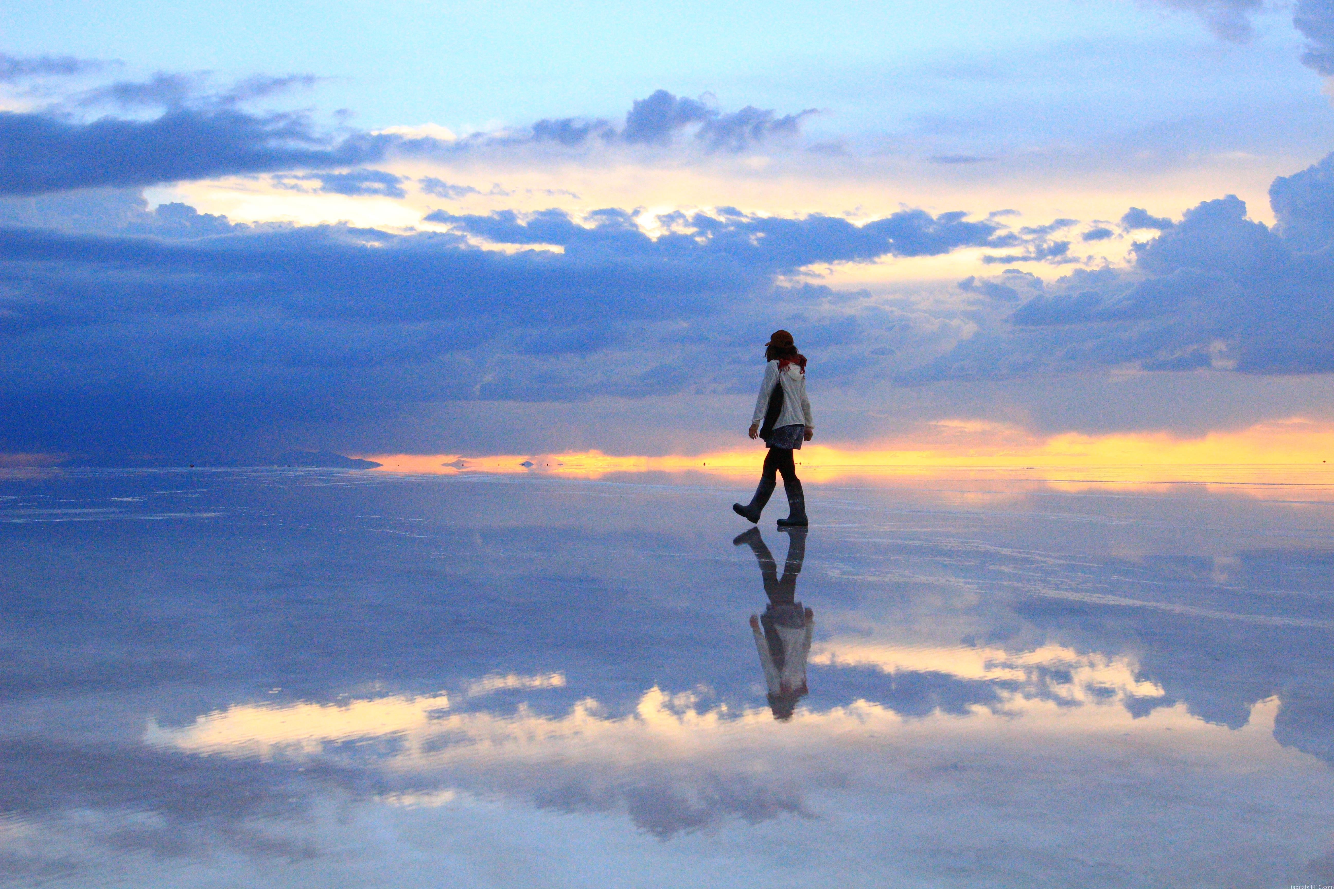ウユニ塩湖 サンセット