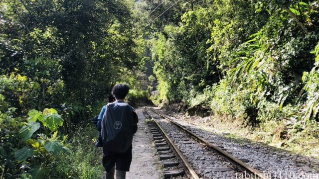 水力発電所からマチュピチュ村への歩き