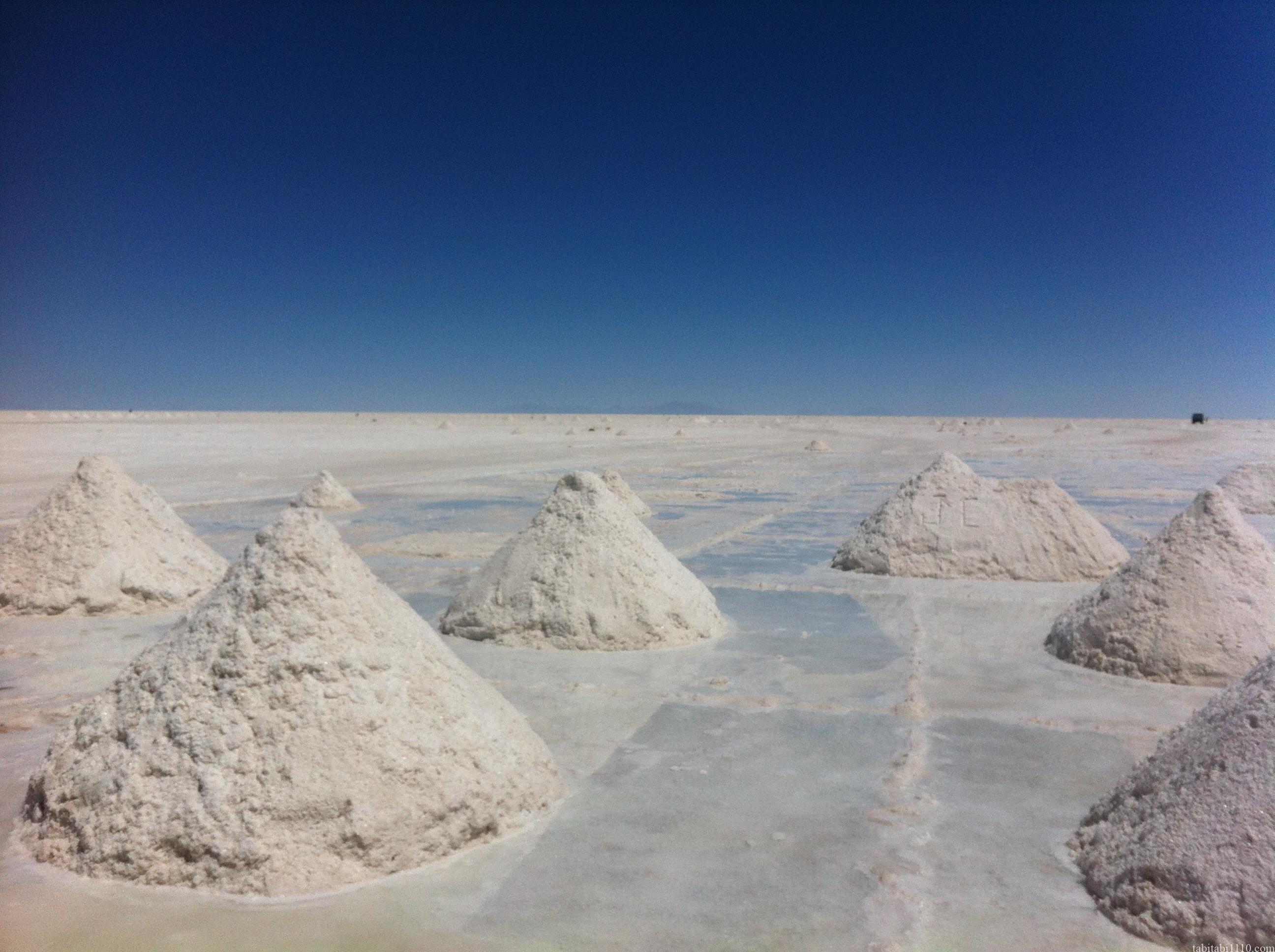 ウユニ塩湖 乾季