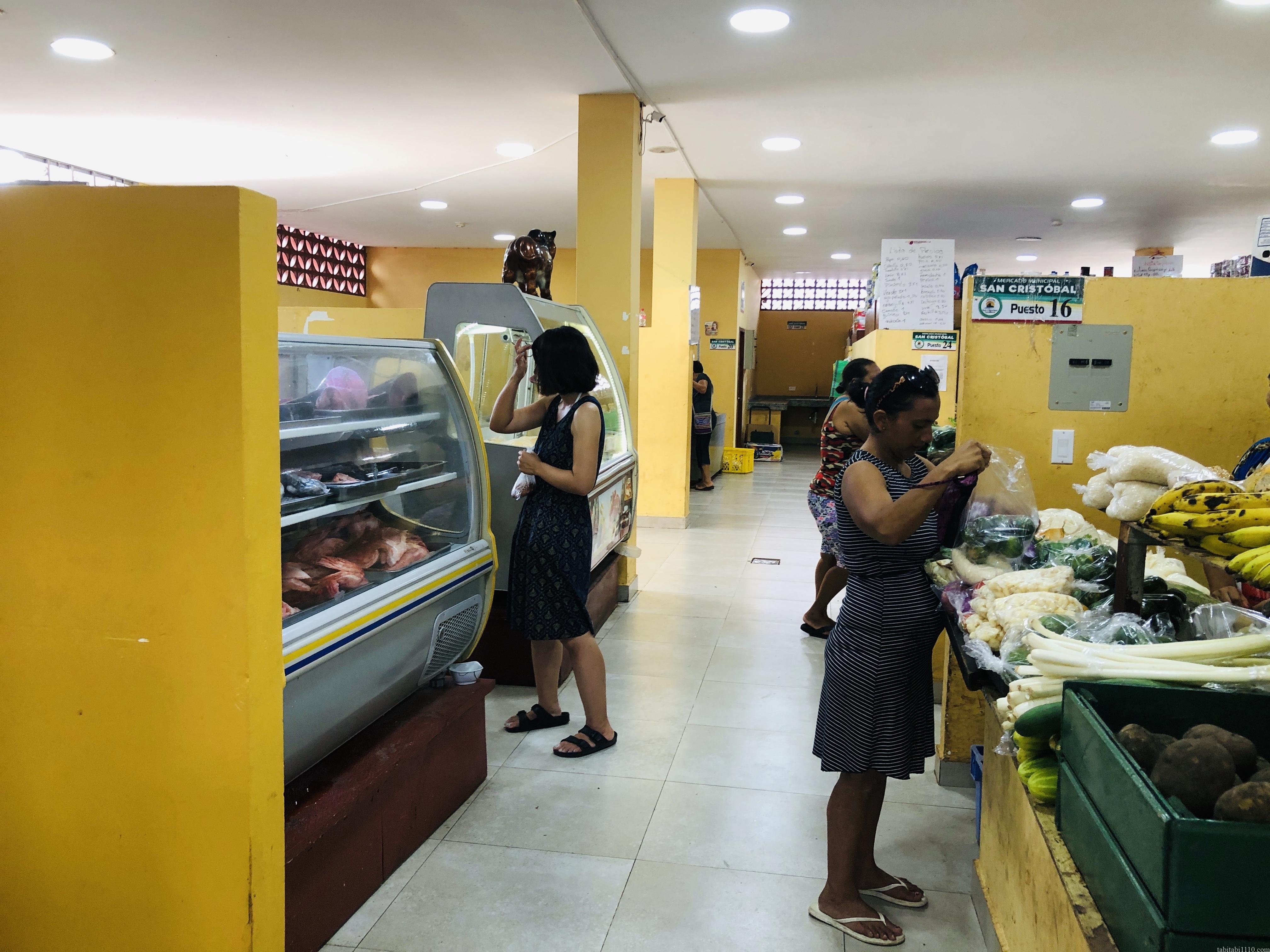 サンクリストバル島の市場