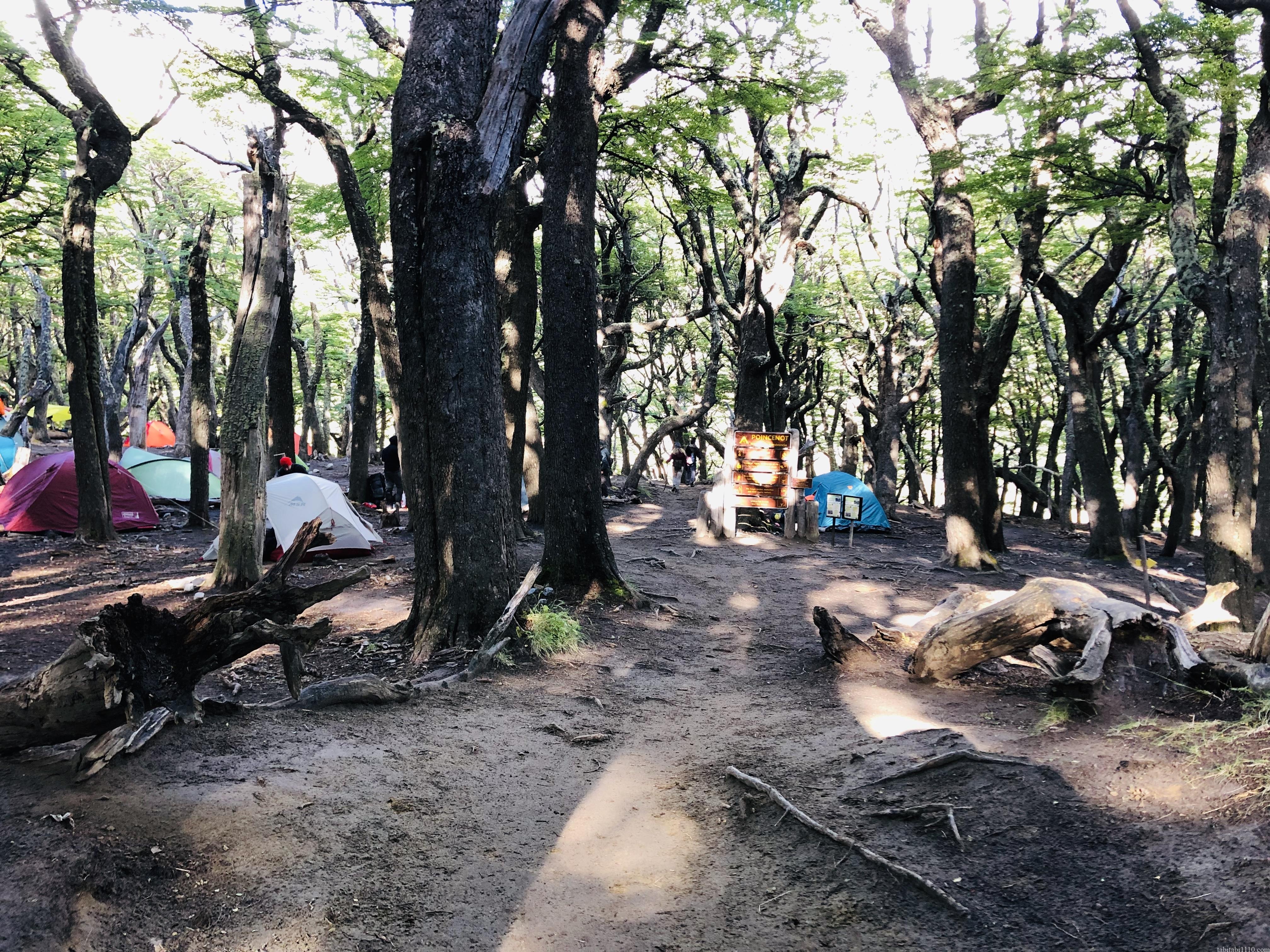 フィッツロイトレッキングのキャンプ場
