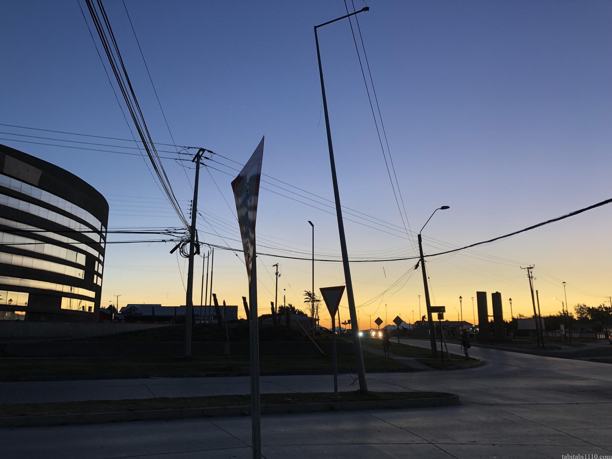 プエルトナタレスの夕焼け
