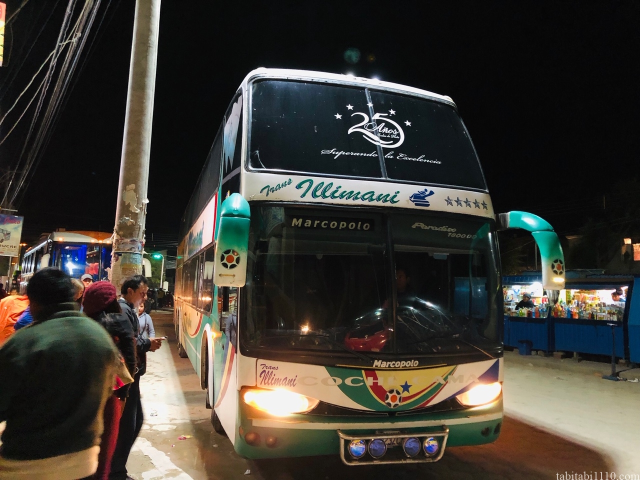 ウユニ ラパス バス