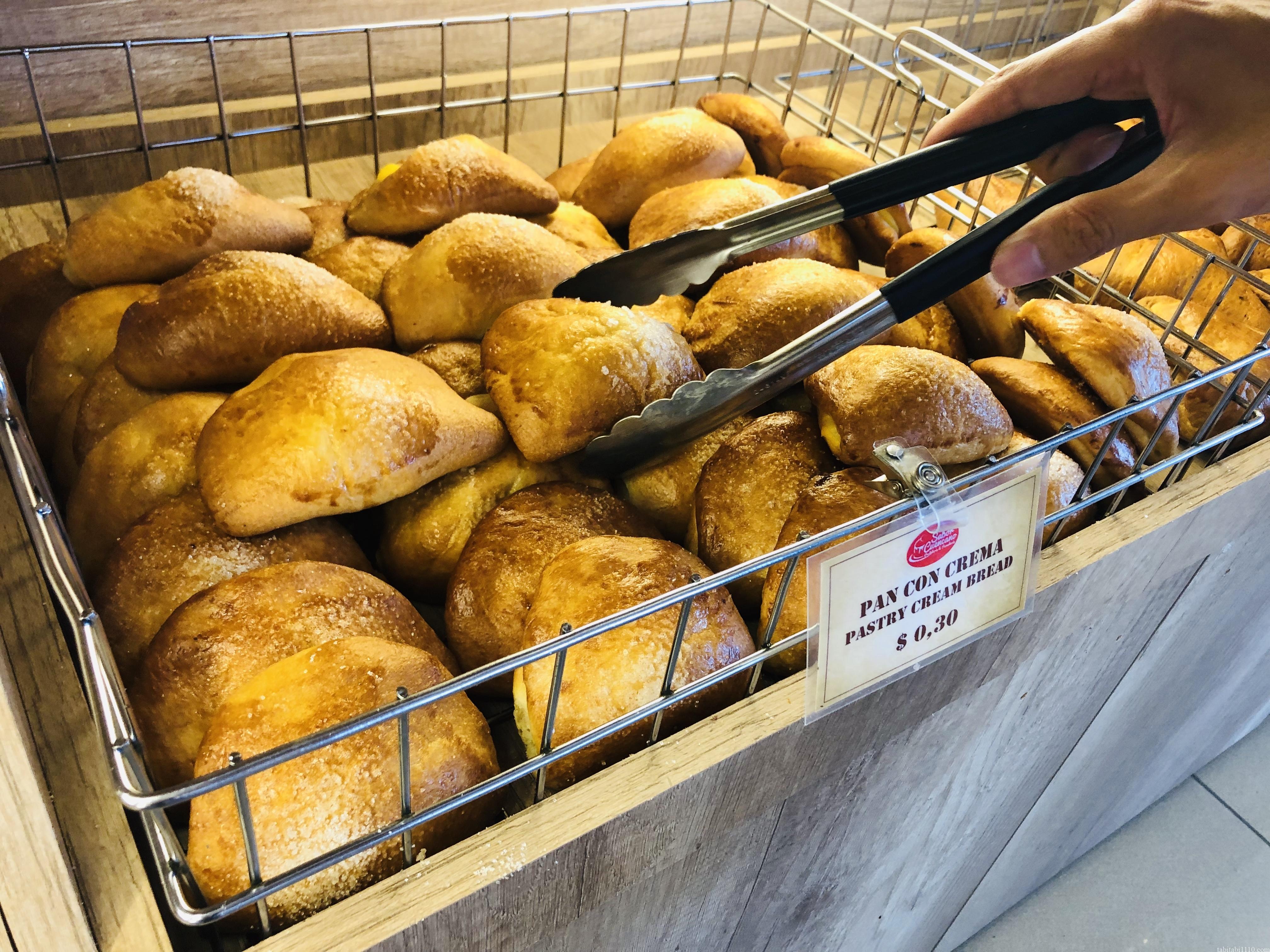 サンクリストバル島のパン屋のくりーむぱん
