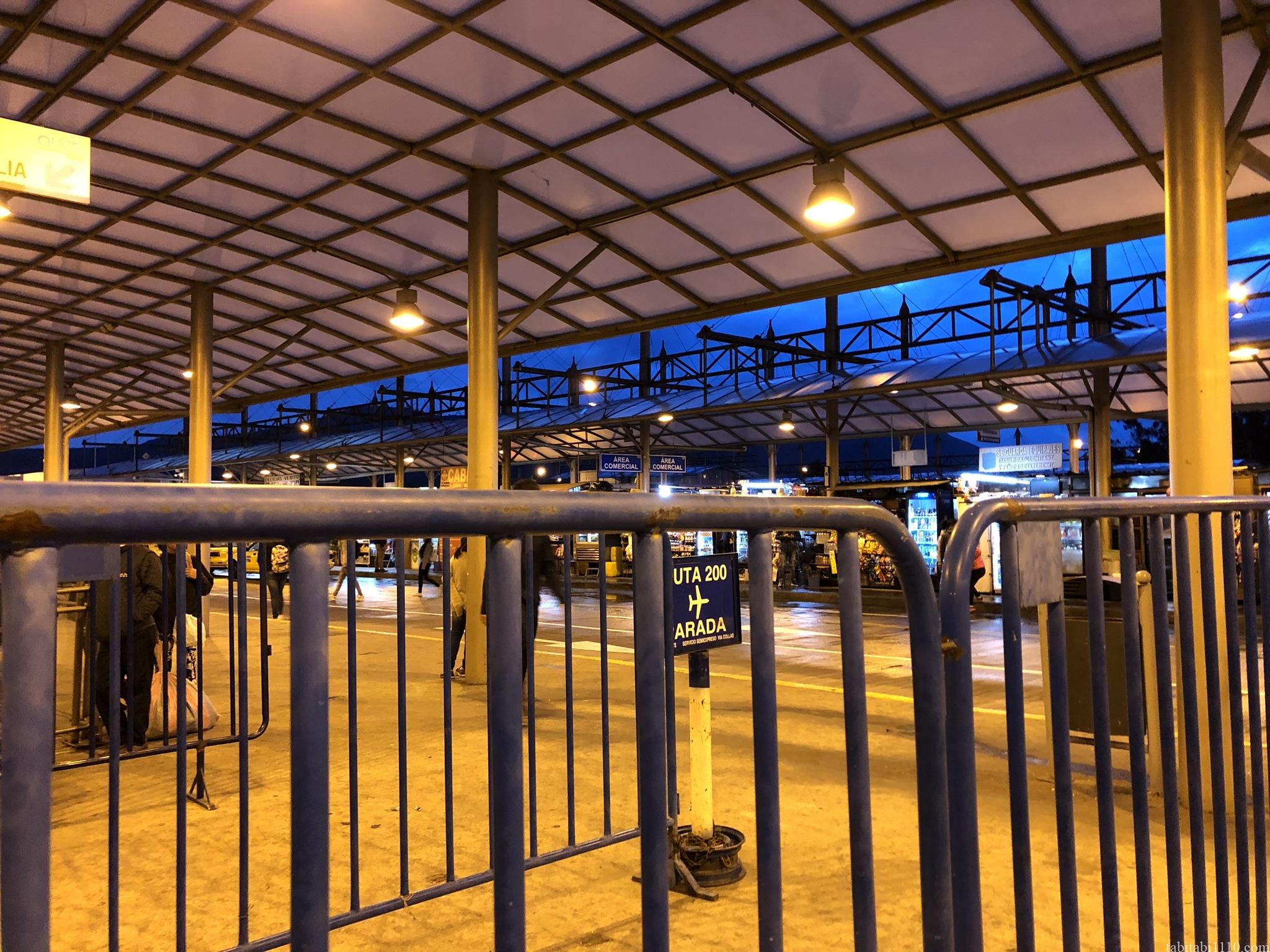 キトのバスターミナル