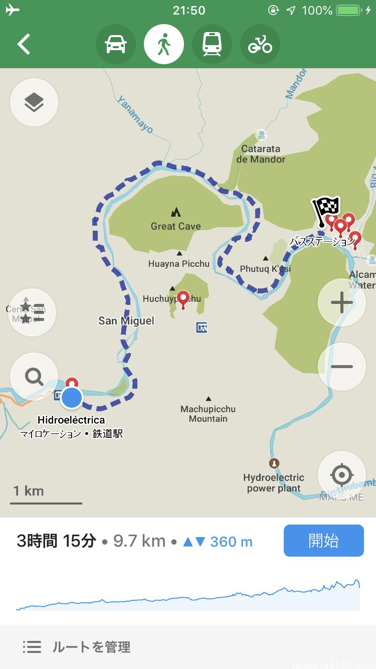 水力発電所からマチュピチュ村へ