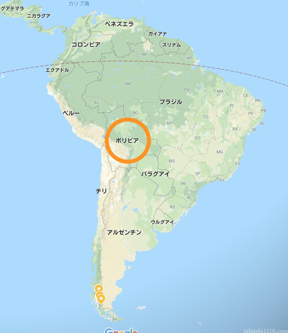 ボリビア 位置