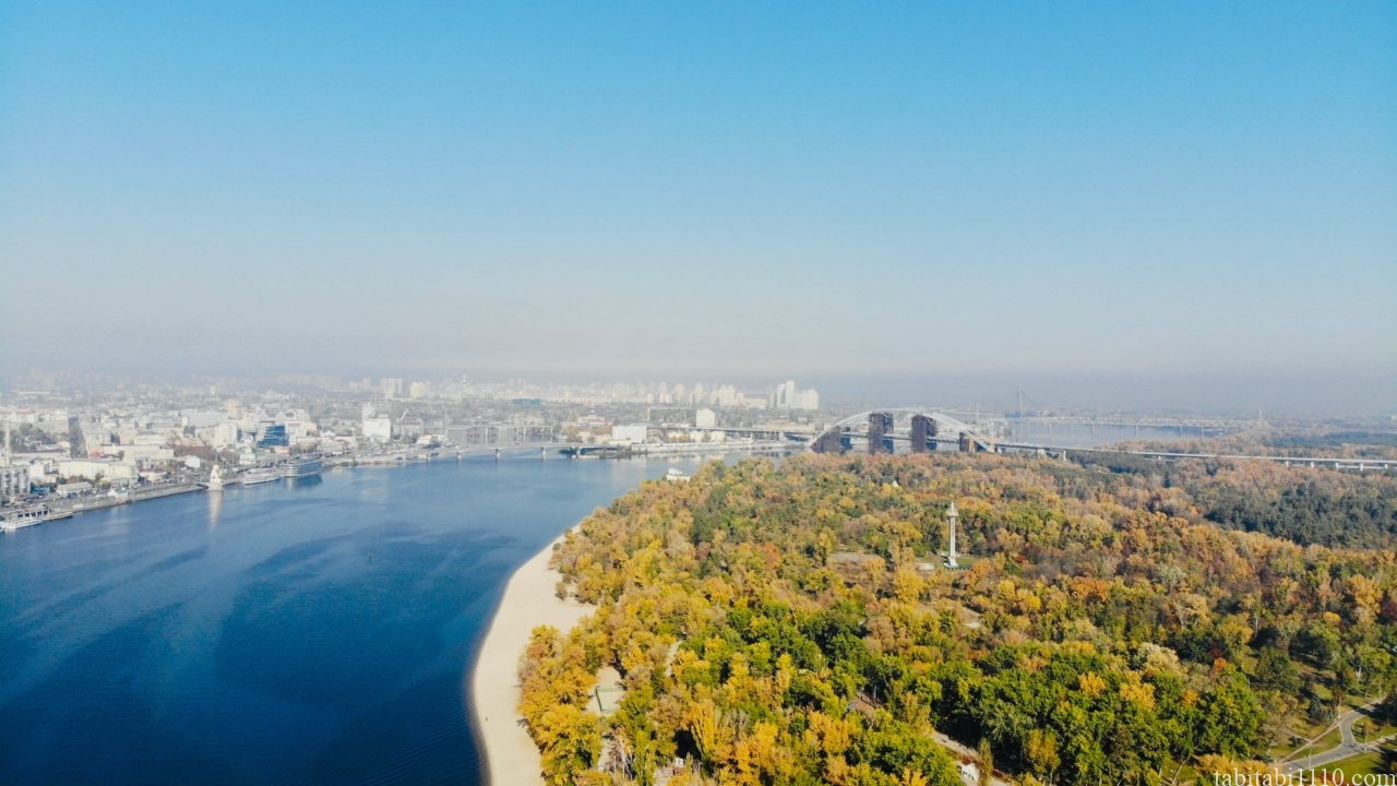 ウクライナ キエフ ドローン空撮
