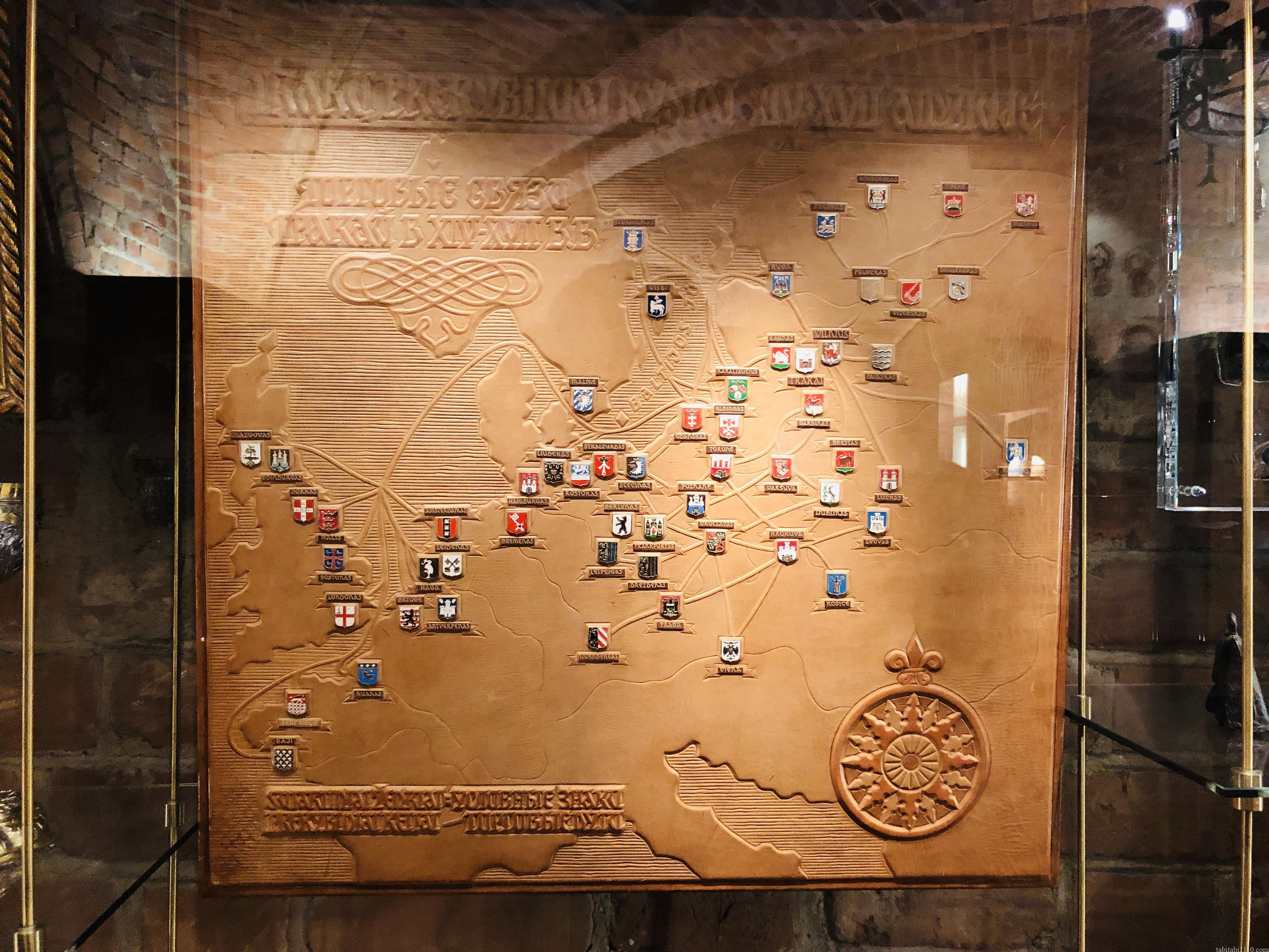 トラカイ城|紋章