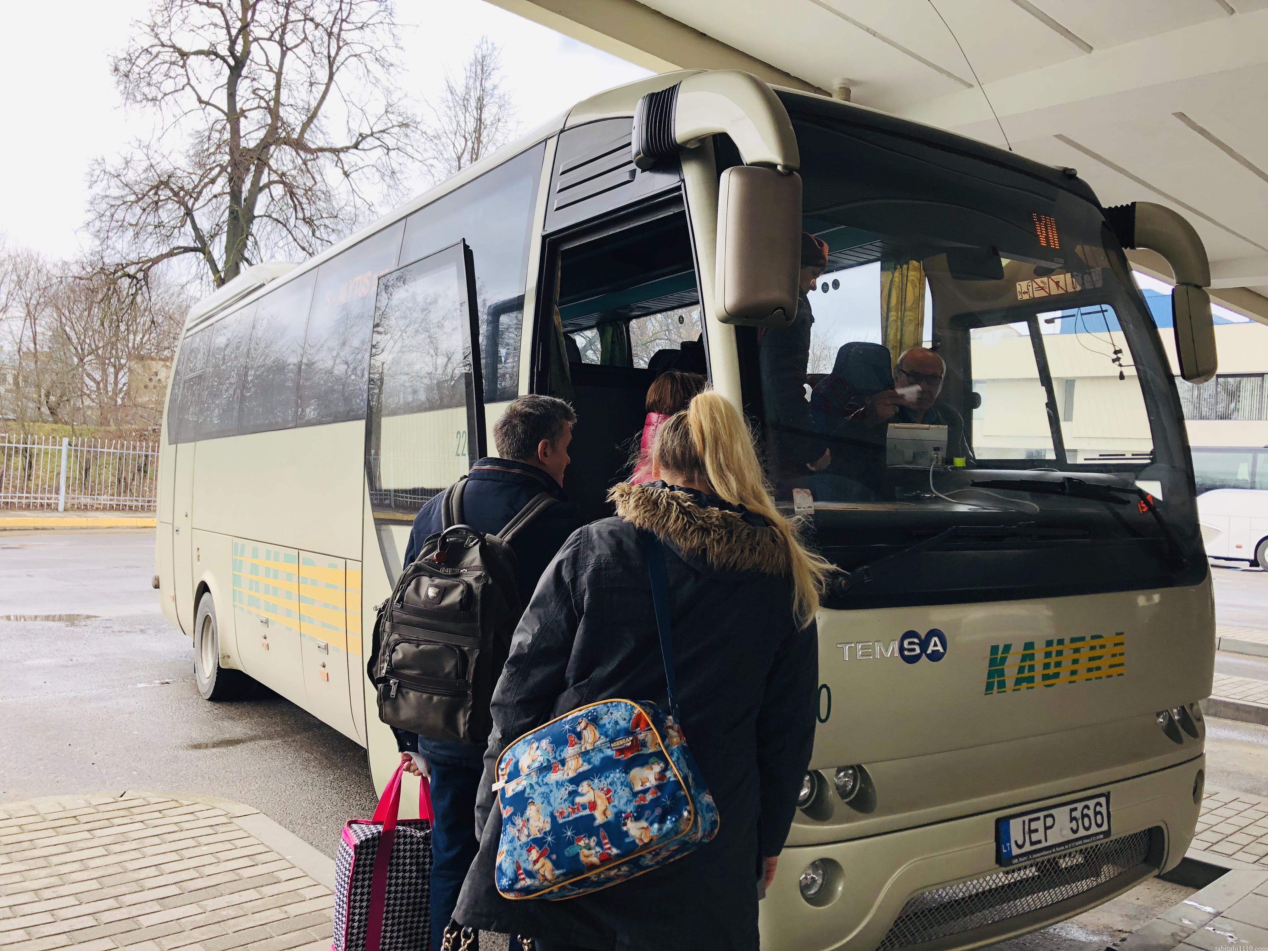 ビリニュス トラカイ バス