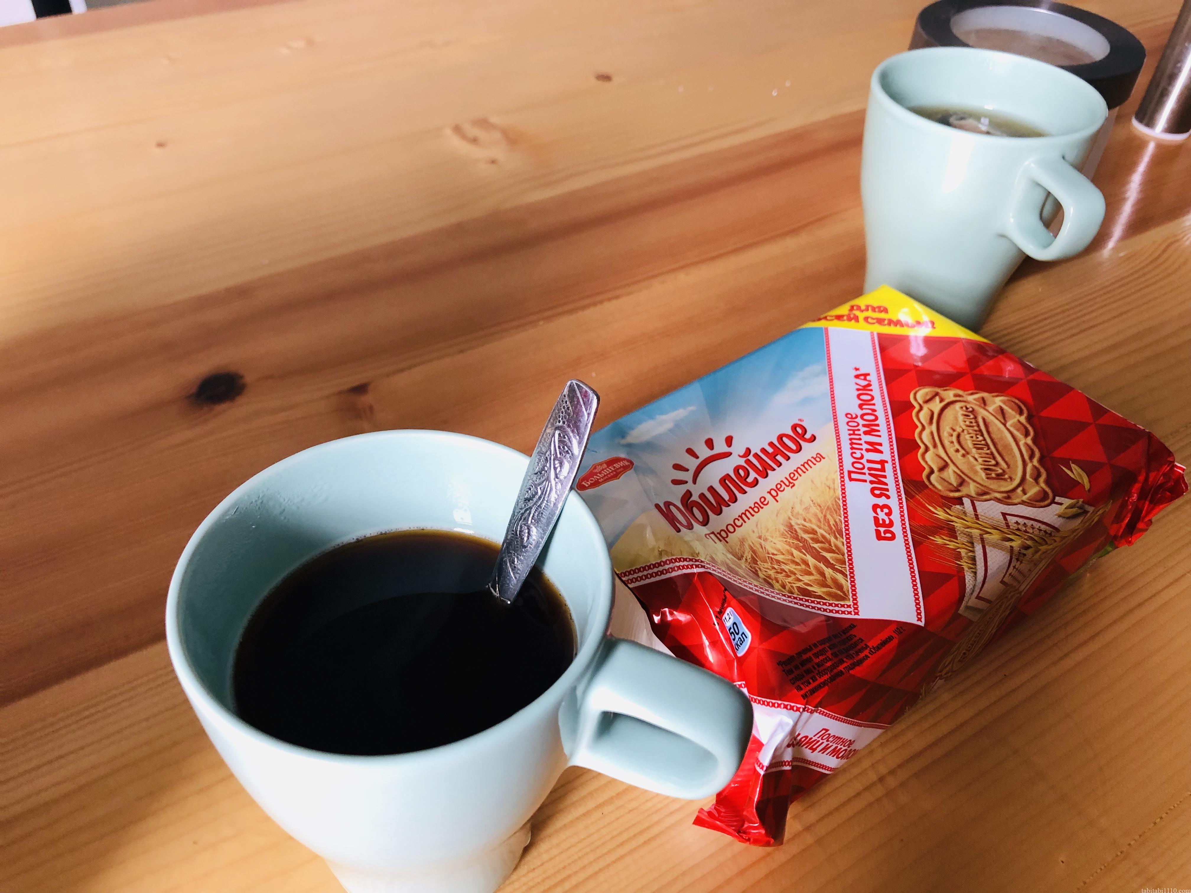 サンクトペテルブルクの宿のコーヒー