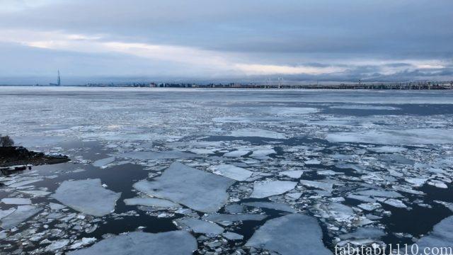 ロシアの凍った海