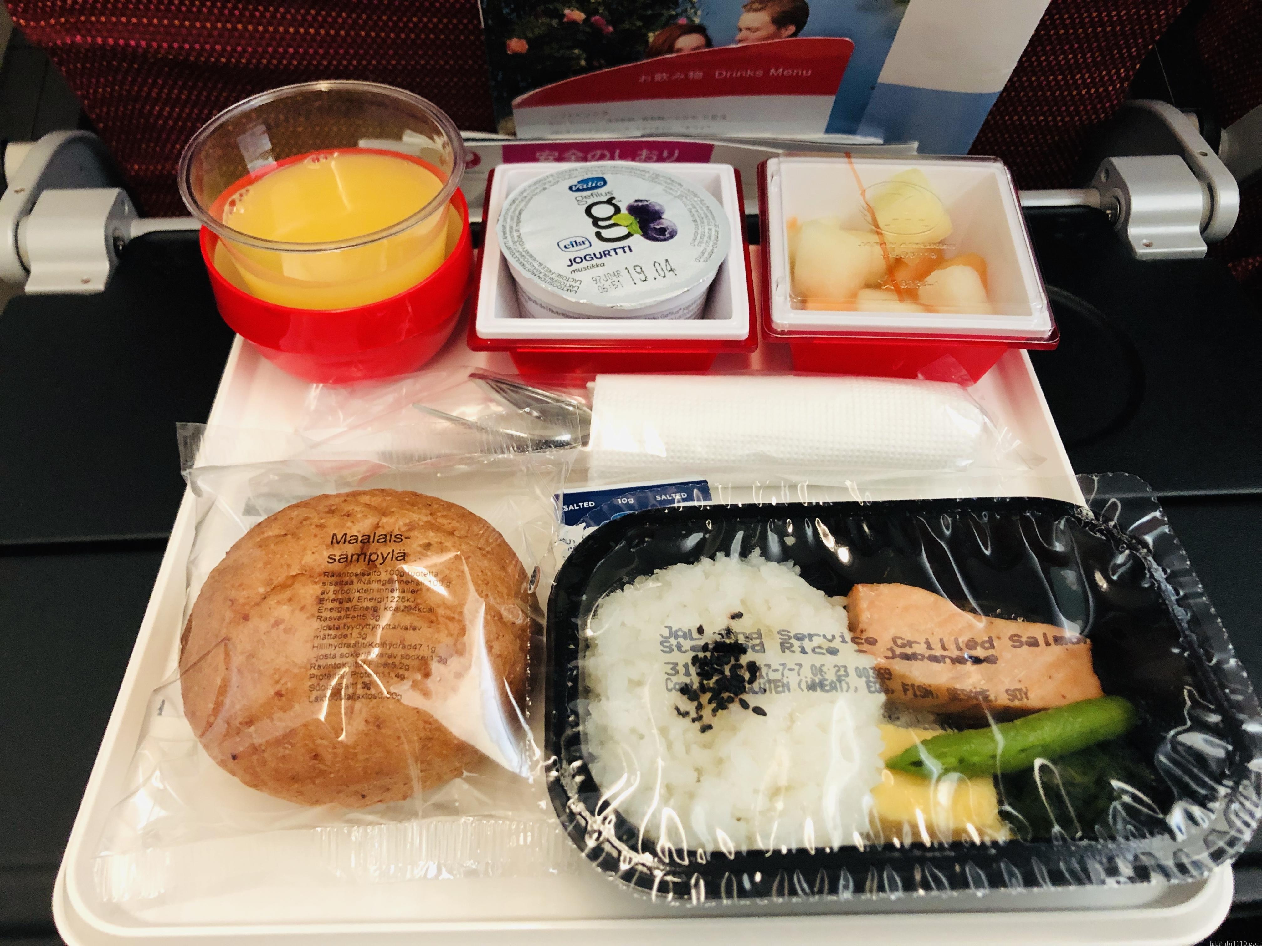 JAL機内食②