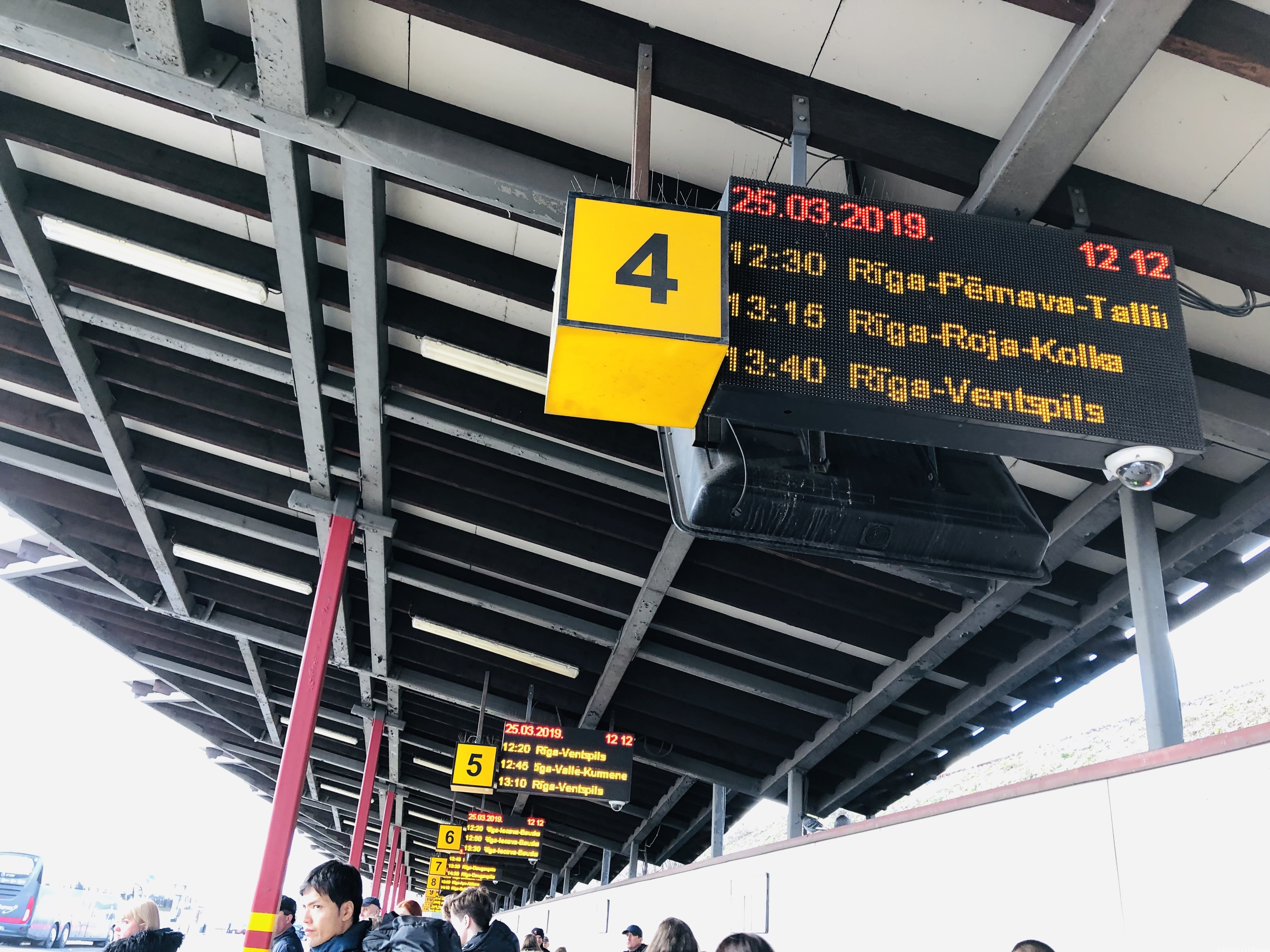 リガのバスターミナル